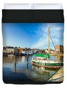 Idyllic North Sea Town Of Husum Duvet Cover