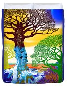 If A Tree Falls In Sicily Color 2 Duvet Cover