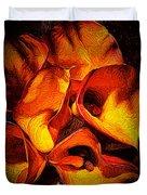 If Van Gogh Painted Calla Lilies Duvet Cover