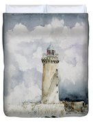 ighthouse Kereon Ouessant island Britain Duvet Cover