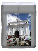 Iglesia De Santo Tomas Church Duvet Cover