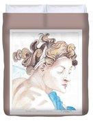 Ignudo Sistine Chappel Michelangelo Duvet Cover