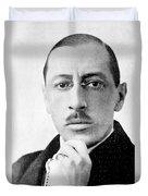 Igor Stravinsky, Russian Composer Duvet Cover