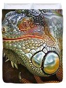 Iguana Full Of Color Duvet Cover