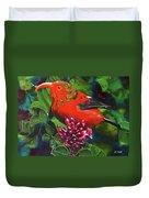IIwi Scarlet Honeycreeper Bird #339 Duvet Cover