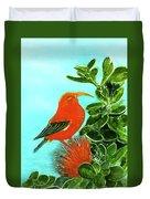 IIwi Scarlet Honeycreeper Bird #54 Duvet Cover