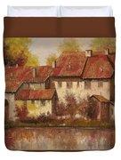 Il Borgo Rosso Duvet Cover