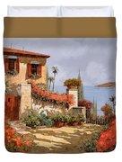 Il Giardino Rosso Duvet Cover
