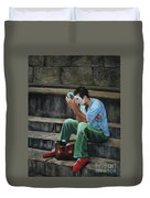 Il Mimo - The Mime Florence Italy Duvet Cover