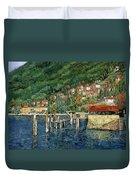 il porto di Bellano Duvet Cover