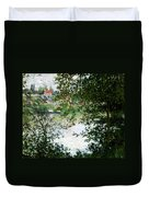 Ile De La Grande Jatte Through The Trees Duvet Cover
