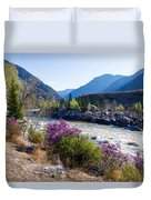 Ilgumensky Rapids At Spring Time. Altay Mountains Duvet Cover