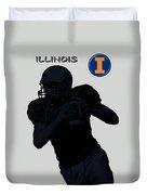 Illinois Football Duvet Cover