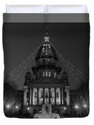 Illinois State Capitol B W Duvet Cover