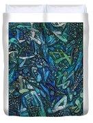 Illuminated Blue Duvet Cover