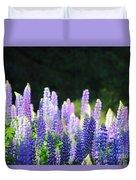Illuminated Lupines Duvet Cover