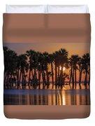 Illuminated Palm Trees Duvet Cover