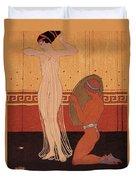 Illustration From Les Chansons De Bilitis Duvet Cover