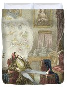 Illustration From Visitation Of A London Exquisite To His Maiden Aunts In The Country Duvet Cover
