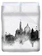 Illustration Of City Skyline - Rome In Chinese Ink Duvet Cover