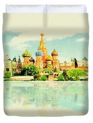 Illustration Of Moscow In Watercolour Duvet Cover