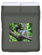 I'm Looking - Blue Jay Duvet Cover