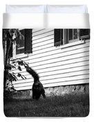 I'm Watching You Black And White Duvet Cover