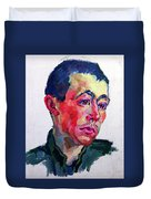 Image Of A Soldier Duvet Cover