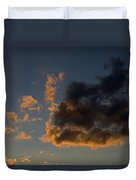 Image Of Clouds At Sunset Duvet Cover
