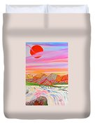 My Imagination Of China's Vast Rainbow Mountains Duvet Cover