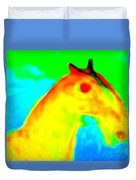 Imagine All The People And All The Horses  Duvet Cover
