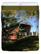 Imes Covered Bridge-winterset Duvet Cover