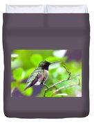 Img_3524-002 - Ruby-throated Hummingbird Duvet Cover