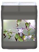 Img_9114-003 - Ruby-throated Hummingbird Duvet Cover