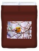 Img_9900 - Pine Warbler Duvet Cover