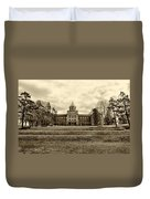 Immaculata University In Black And White Duvet Cover