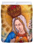 Immaculate Heart Of Virgin Mary Duvet Cover
