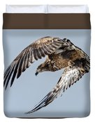 Immature Bald Eagle Leaving A Perch Duvet Cover