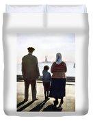 Immigrants: Ellis Island Duvet Cover