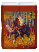 Imminent Charge - Bull Moose Duvet Cover