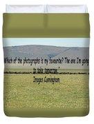 Imogen Cunningham Quote Duvet Cover