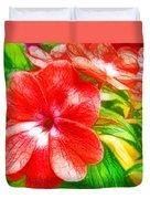 Impatiens Flower Duvet Cover