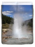 Imperial Geyser, Yellowstone Np Duvet Cover