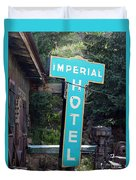 Imperial Hotel Sign In Cripple Creek Duvet Cover