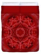 Imperial Red Rose Mandala Duvet Cover