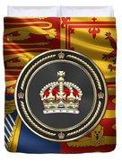 Imperial Tudor Crown Over Royal Standard Of The United Kingdom Duvet Cover