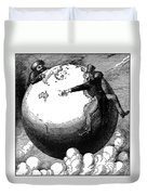 Imperialism Cartoon, 1876 - To License For Professional Use Visit Granger.com Duvet Cover