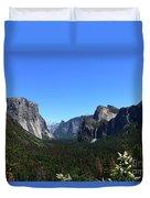 Imposing Alpine World - Yosemite Valley Duvet Cover
