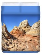 Impossible Rock Formations In The White Pocket Duvet Cover