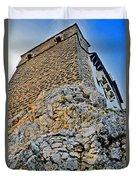 Impregnable Wall. Bran Castle - Dracula's Castle. Duvet Cover